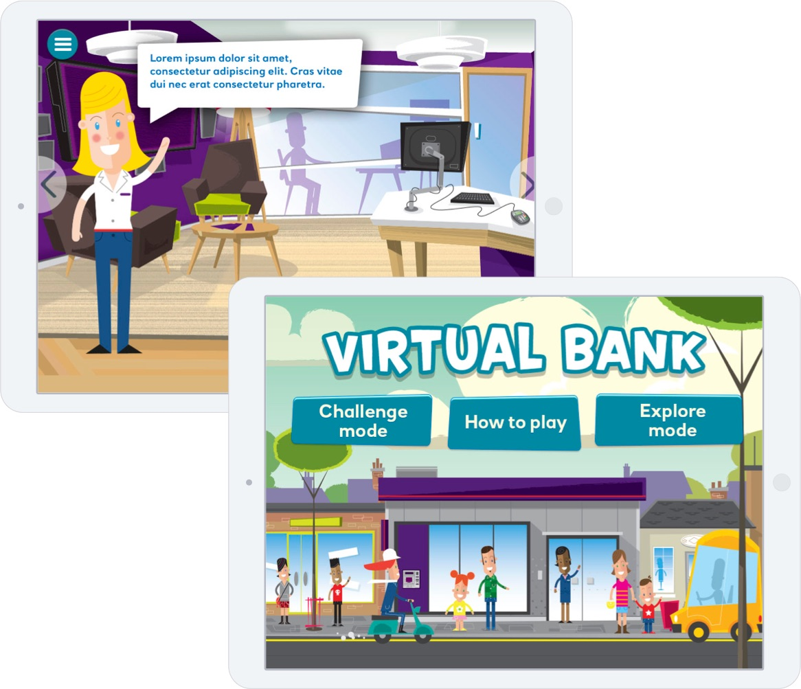 Virtual bank screens